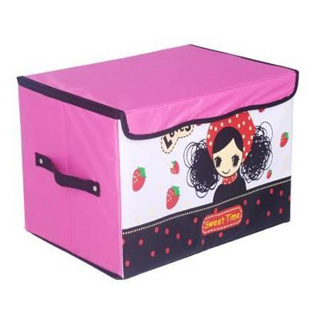 普润 牛津布收纳箱整理箱储物箱卡通人物收纳盒 迷糊女孩