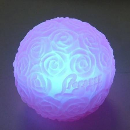 浪漫球形七彩玫瑰灯 七彩小夜灯带love字样 玫瑰灯升级版