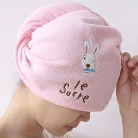 创意家居 可爱卡通兔子吸水干发帽