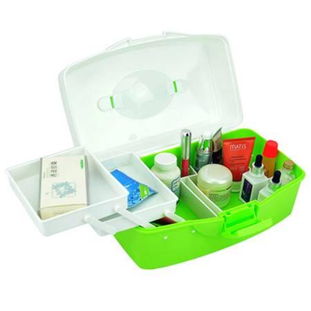 红兔子 多层药箱625型便携式家庭药箱 颜色随机