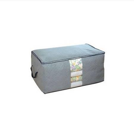 木晖 竹炭棉被加高大号视窗储物袋 收纳袋 收纳箱