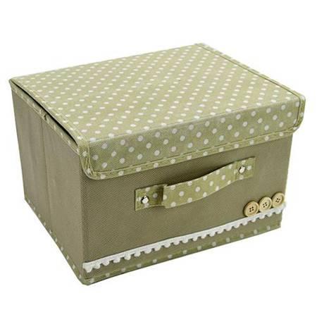 小号扣扣多功能折叠收纳箱/整理箱 米色