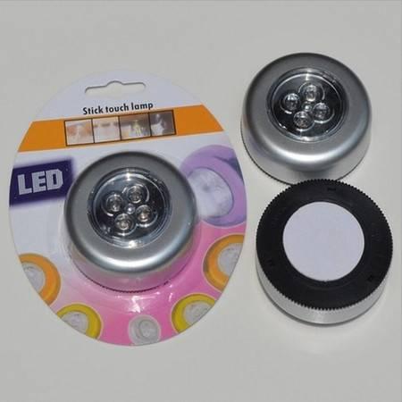 四头LED灯高亮应急灯(塑料) 触摸灯手电粘墙壁