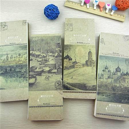 韩国款文具创意清新32K 七彩软抄莫斯科软抄本欧式笔记本子(2本装)