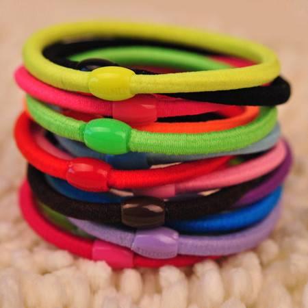 基础款实用头绳 发绳 橡皮筋 结实发圈款式颜色随机100根