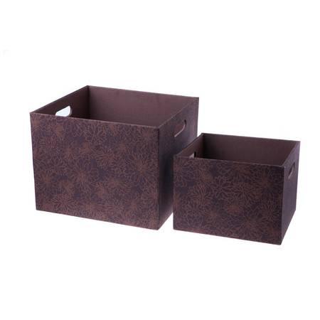 开馨宝加厚密度板多用途收纳盒/收纳箱 两个小号(L003)