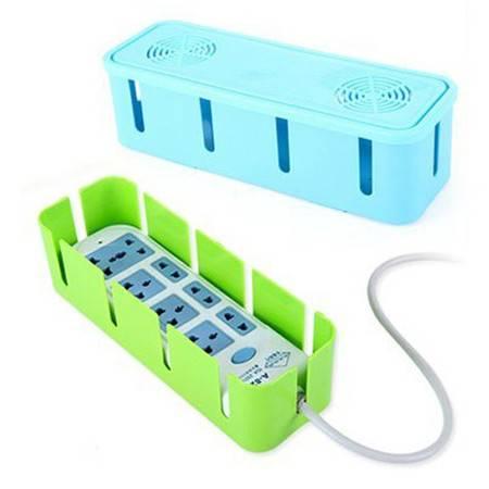 散热电源线插座收纳盒/集线盒--蓝色  两个装