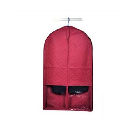 木晖 竹炭二代酒红色西装收纳袋 西服防尘罩 两个装