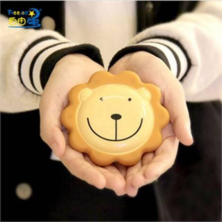 自由星奶油小熊便携式USB充电暖手宝 电暖宝