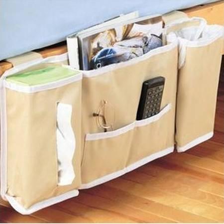 床边收纳挂袋 床头杂志小物件遥控器收纳袋 床挂