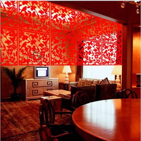 普润 镂空挂式屏风--红色4个装