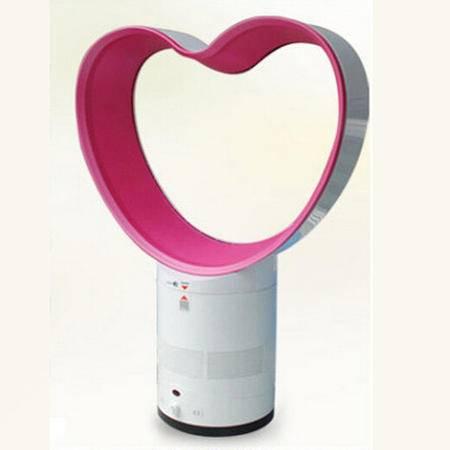普润 无叶风扇 无扇叶摇头电风扇无页风扇爱心苹果型---粉色