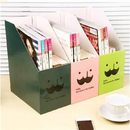 畸良韩国DIY胡子叔叔 桌面收纳盒桌面整理盒文件收纳盒(果绿)