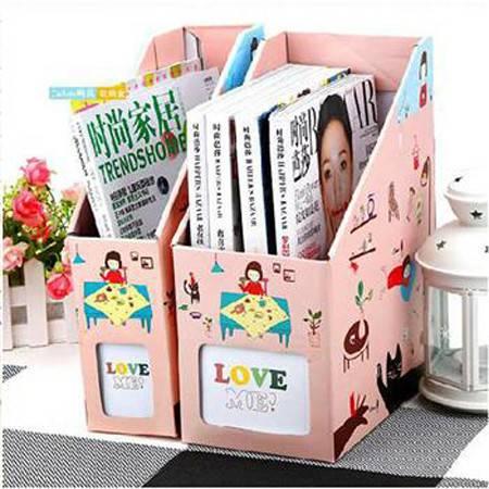 畸良韩国DIY 桌面收纳盒桌面整理盒文件收纳盒(大号猫女)