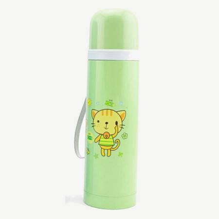 普润 真空不锈钢子弹头保温水杯 500ML绿色