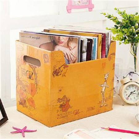畸良 大容量纸质收纳箱玩具衣服储物箱有盖搬家纸箱宿舍整理箱整理盒杂物盒收纳盒 (邮票)