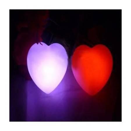 创意爱心七彩灯 小夜灯 浪漫心形七彩灯