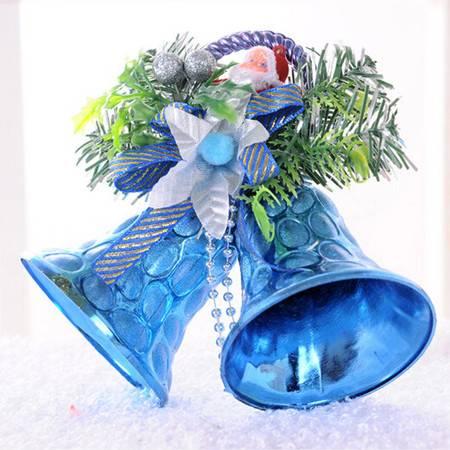 圣诞装饰品 圣诞双铃铛挂饰 儿童礼物 两只铃铛 颜色随机