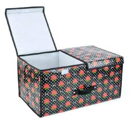 普润 双盖覆膜防水收纳箱/便利收纳盒--草莓