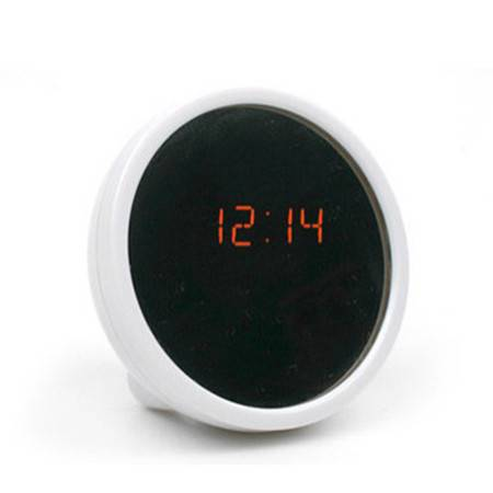 LED美人镜子钟床头电子钟夜光镜钟静音闹钟