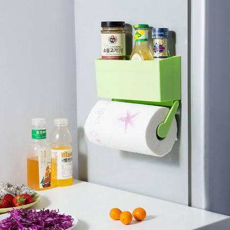 普润 冰箱保鲜膜收纳盒 厨房纸巾架--绿色