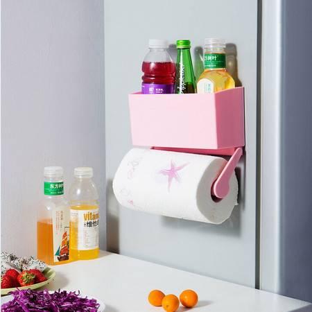 普润 冰箱保鲜膜收纳盒 厨房纸巾架--粉色