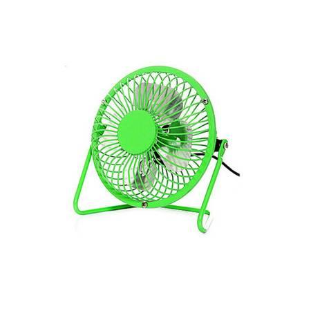 普润 usb小风扇 铁艺风扇 4寸铝叶大风力小风扇 usb风扇 风扇 绿色