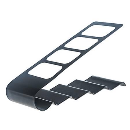 铁艺四格遥控器收纳架 桌面电视空调遥控器收纳座收纳盒 黑色