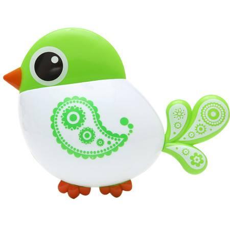 小鸟吸盘牙刷牙膏置物架--绿色