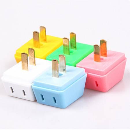 扩展转换插头转换器一拖三插头一转三插座旅行电源无线插头 颜色随机
