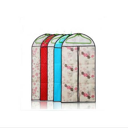 普润 衣服防尘罩/透明西服防尘袋--红色印花(小号)2只装