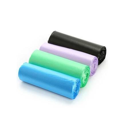 普润 1卷50只装炫彩点断式平底垃圾袋 50*60CM粉色颜色随机发货