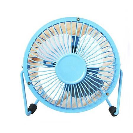 普润 usb小风扇 铁艺风扇 4寸铝叶大风力小风扇 usb风扇 风扇 蓝色