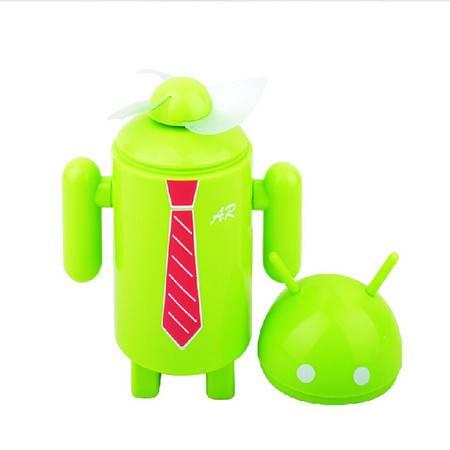 普润 迷你手持充电式安卓风扇--绿色