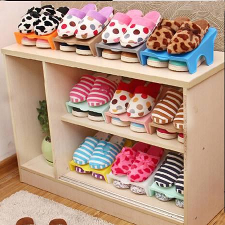 单层简易鞋架 居家方形塑料鞋子收纳架 收纳鞋架 紫色