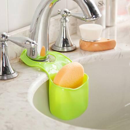 厨卫多功能沥水杂物收纳挂袋--果绿色(JY006-3)2只装