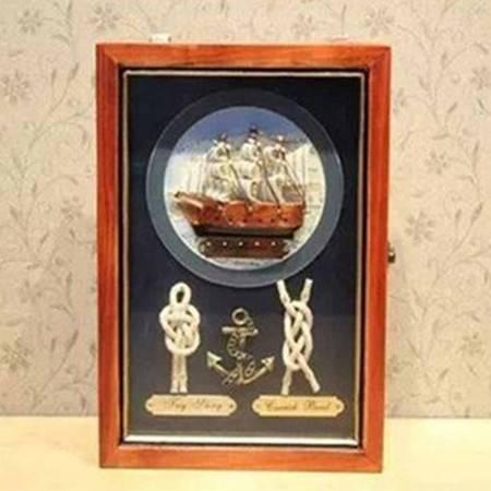 红兔子 实木壁挂/钥匙箱/遮挡箱/置物架 地中海风格 海盗船