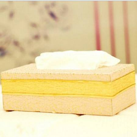 开馨宝凸纹仿皮素雅长方纸巾盒 车用纸巾抽 纸巾套 K8104