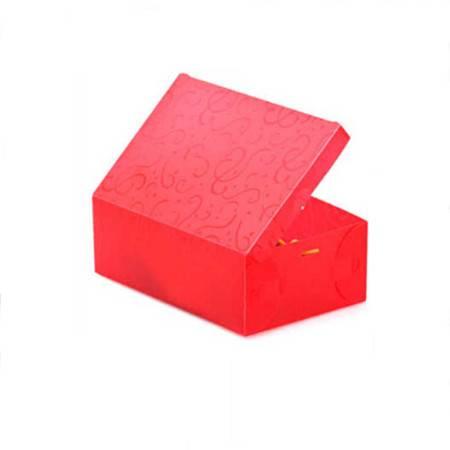 星空夏日 雕花加厚鞋盒雕花塑料翻盖式鞋盒 男款大号红色  4只
