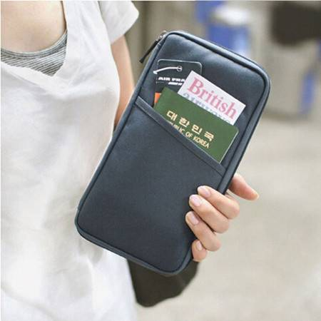 高品质牛津布多功能卡包护照包护照夹证件包牛津布手拿包 颜色随机