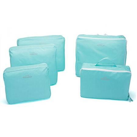 普润 韩版旅行包中包整理包/收纳袋-蓝色(五件套)