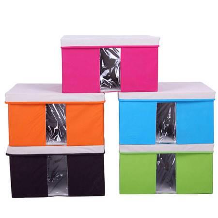 友纳 多功能透明窗可视三件套 收纳箱 收纳盒 可视箱玫红色