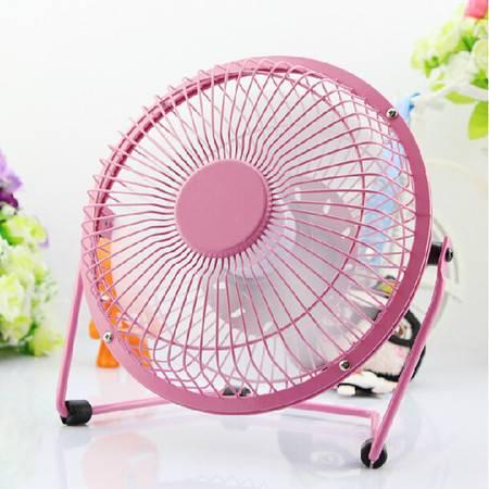 普润 usb小风扇 铁艺风扇 4寸铝叶大风力小风扇 usb风扇 风扇 粉色