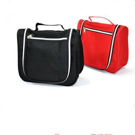 普润 韩国包中包 双拉链收纳包 包中包收纳整理袋 创意化妆包 大号洗漱包 黑色
