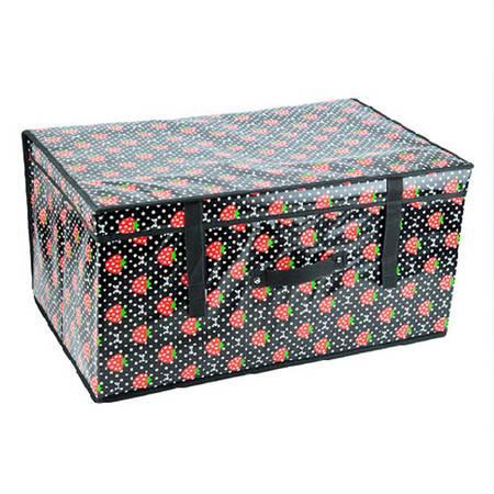 普润 无纺布有盖收纳箱  防水覆膜箱-(60*40*30cm)草莓