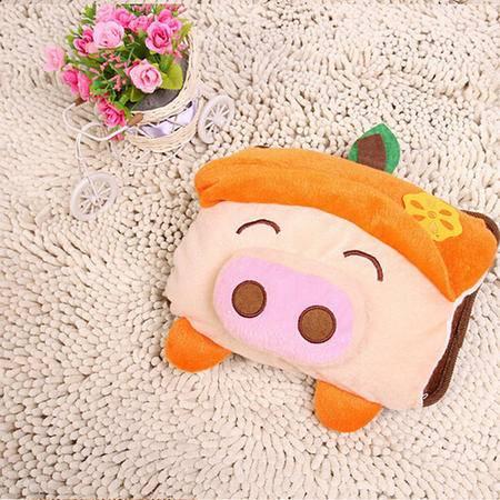 博弘 可爱红色水果猪电暖袋 卡通防爆电热水袋 未注水