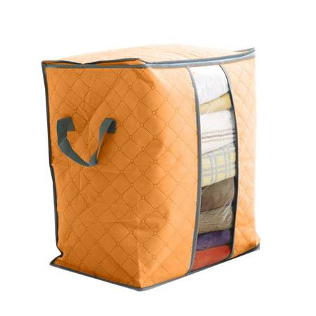 普润 竹炭透明窗衣物收纳袋 防尘袋 橙色