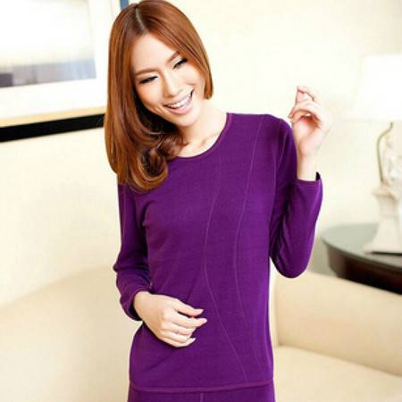 冰洁 女士圆领保暖内衣160/85L紫罗兰色