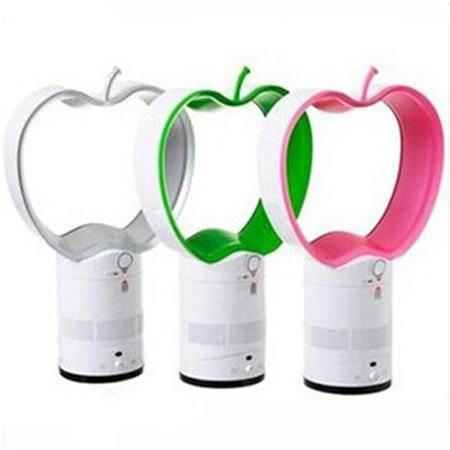 红兔子 普润 12寸苹果形无叶风扇 进口无扇叶摇头电风扇无页风扇 无页台扇带遥控 低碳节能家用无