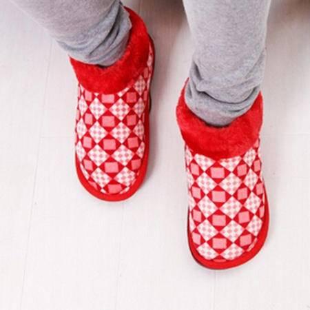 春笑正品 充电发热电暖鞋 暖脚宝 保暖电热鞋 红色 27号